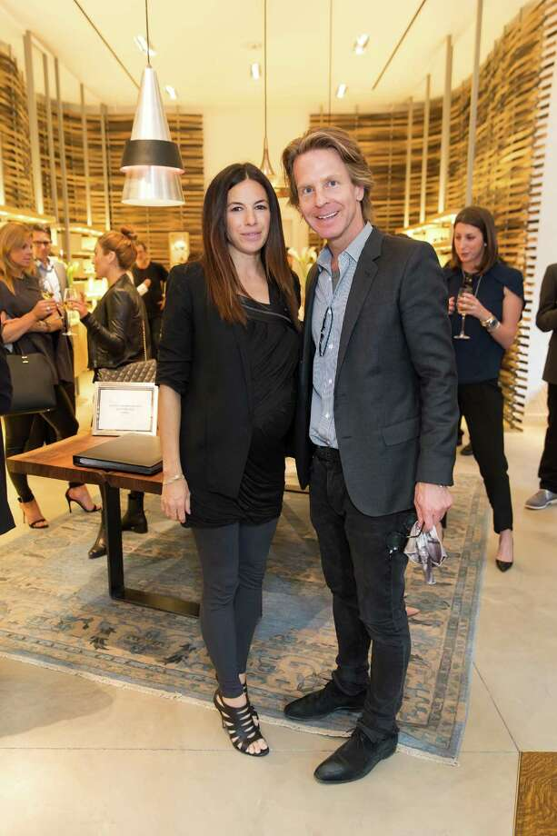 Sabrina Buell and  David Schulte at the opening celebration for the new Oliver Peoples San Francisco boutique on March 13, 2014. Photo: Drew Altizer, Drew Altizer Photography / Drew Altizer Photography