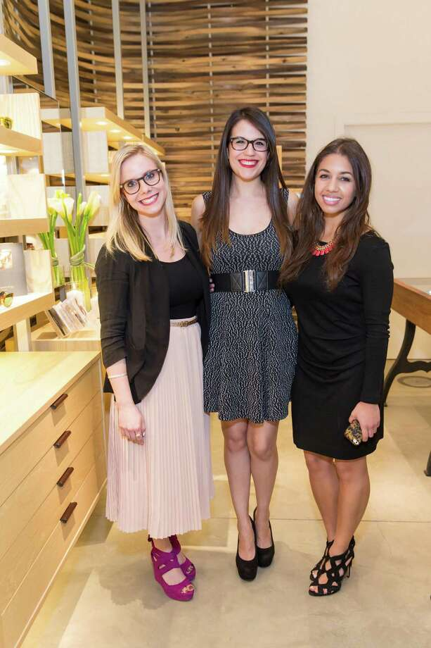Casey Kinzler, Whitney Stutes and Chloe Gaffney at the opening celebration for the new Oliver Peoples San Francisco boutique on March 13, 2014. Photo: Drew Altizer, Drew Altizer Photography / Drew Altizer Photography