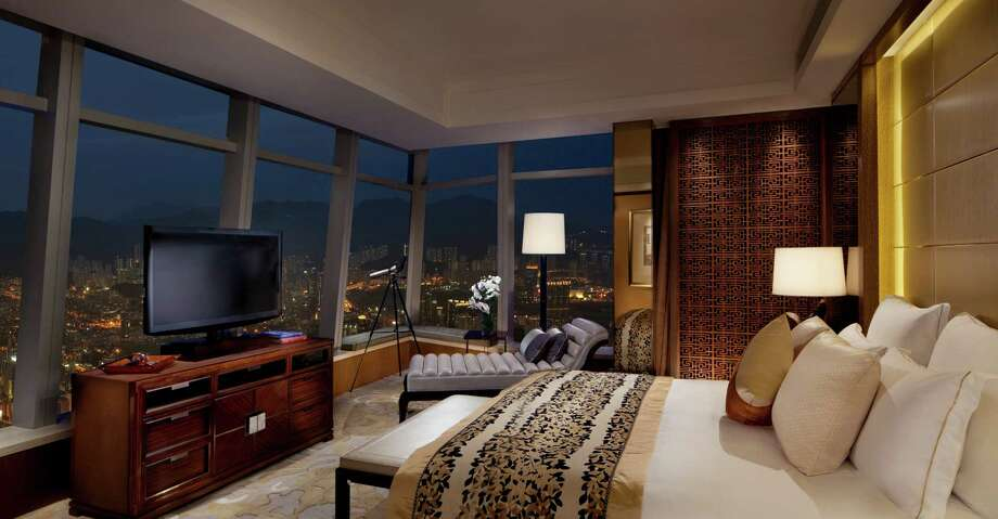 The Premiere Executive Suite at the Ritz-Carlton Hong Kong. The hotel is on the 102-118 floors of the fifth tallest building in the world. Photo: Courtesy Photo / Copyright: 2011 Chris Cypert