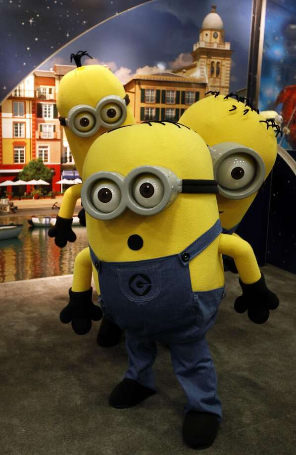 There are completely unrelated movie tie-ins everywhere. What does Despicable Me have to do with this conference? Nothing. Except money. Photo: Lance Iversen, The Chronicle