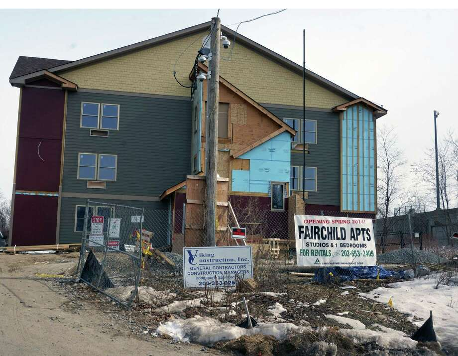 "The town's housing needs will be discussed at a community forum on April 1, but in the meantime, a housing complex is going up on Fairchild Avenue that will be offering ""affordable"" apartments. Photo: Genevieve Reilly / Fairfield Citizen"