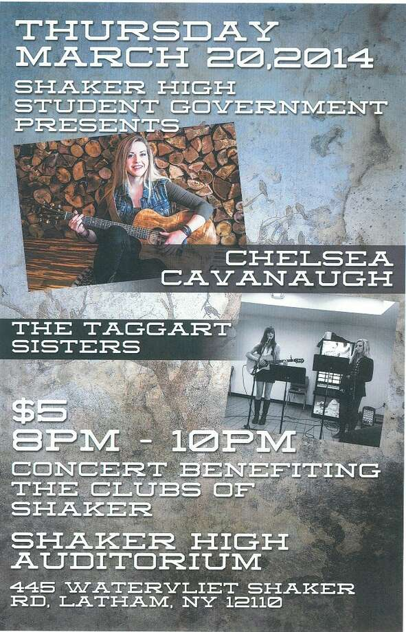 Chelsea Cavanaugh will perform a benefit concert Thursday, March 20, at Shaker High.  (Submitted)