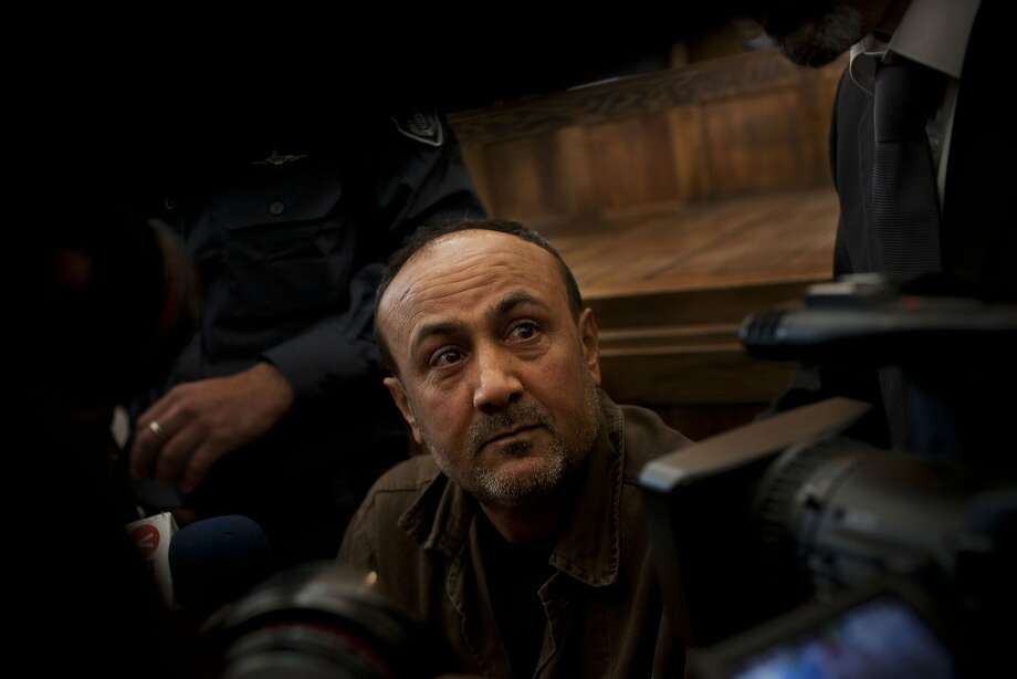 Palestinian leader Marwan Barghouti appears at a Jerusalem court in 2012. He is a popular figure among Palestinians. Photo: Bernat Armangue, Associated Press