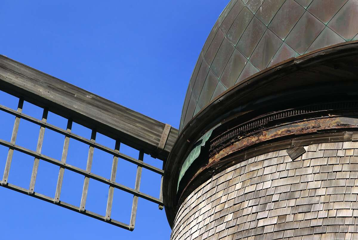 The internal mechanism of the Dutch windmill is rusting away at Golden Gate Park in San Francisco, Calif. on Wednesday, March 19, 2014. More funding is needed to renovate the windmill located on the northwest corner of the park.