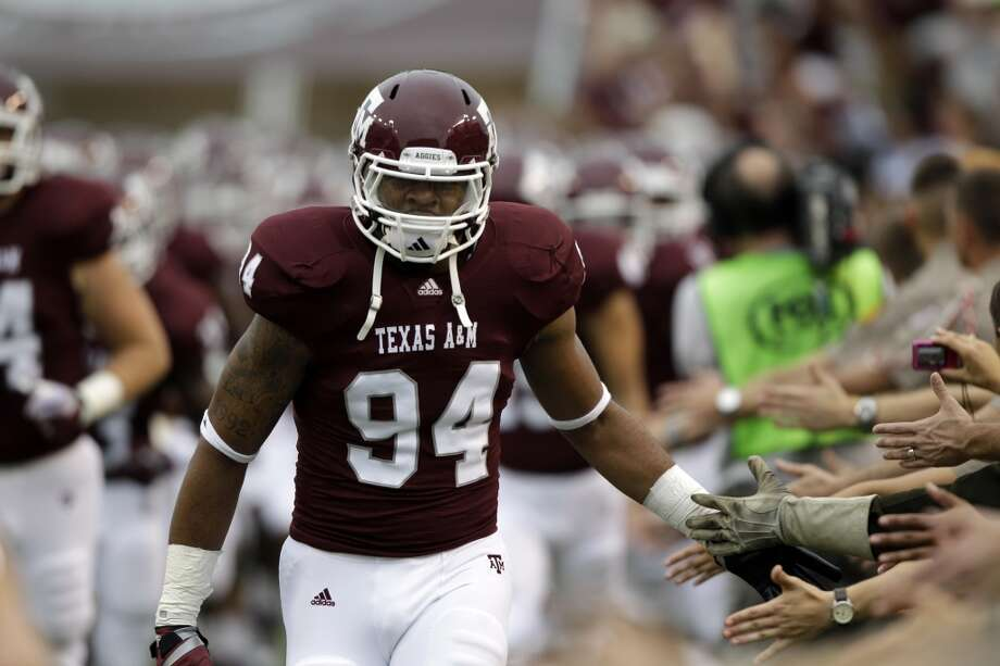 Texas A&M linebacker Damontre Moore (94) before an NCAA college football game against Idaho Saturday, Sept. 17, 2011, in College Station, Texas. (AP Photo/David J. Phillip) Photo: David J. Phillip, Associated Press