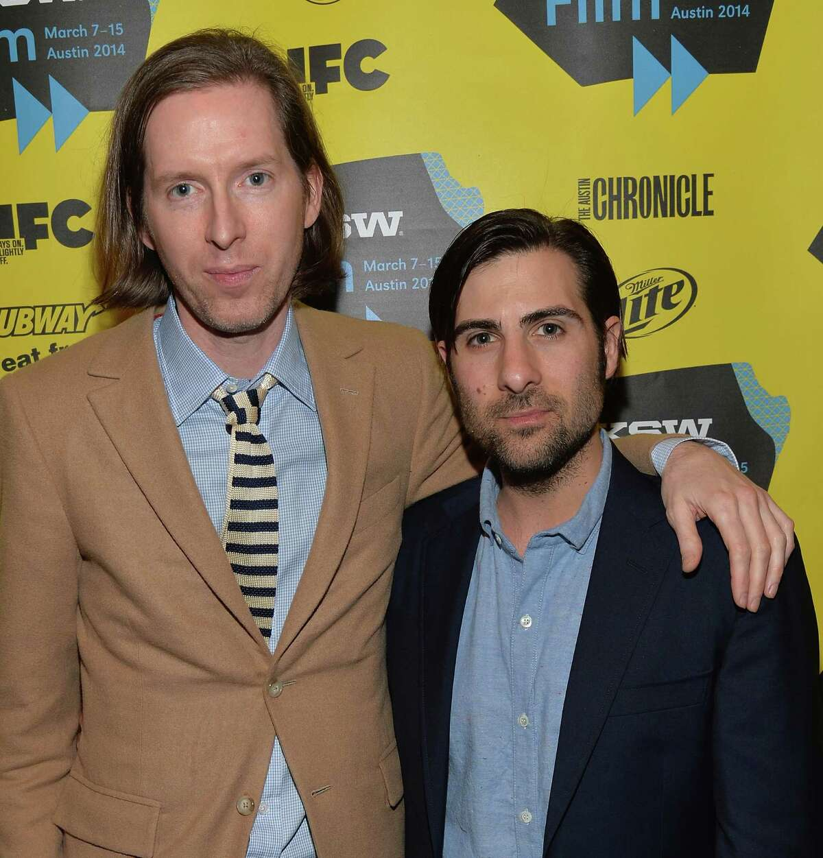 """Director Wes Anderson, who helmed movies such as """"Rushmore,"""" """"The Royal Tenenbaums"""" and """"Fantastic Mr. Fox,"""" honed some of his quirky style at UT's film school.Pictured, Anderson (L) and actor Jason Schwartzman, at the screening of """"Grand Budapest Hotel"""" during the 2014 SXSW Music, Film + Interactive Festival at the Paramount Theatre on March 10, 2014 in Austin, Texas."""