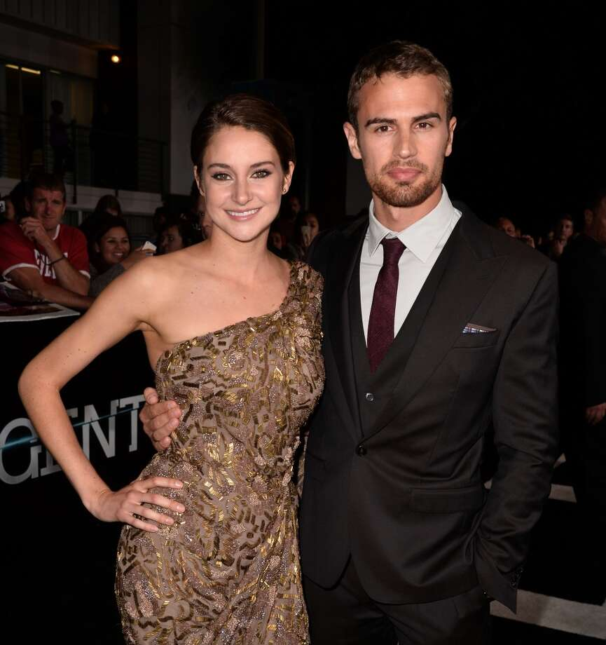 "Actors Shailene Woodley (L) and Theo James arrive at the premiere of Summit Entertainment's ""Divergent"" at the Regency Bruin Theatre on March 18, 2014 in Los Angeles, California. Photo: Kevin Winter, Getty Images"