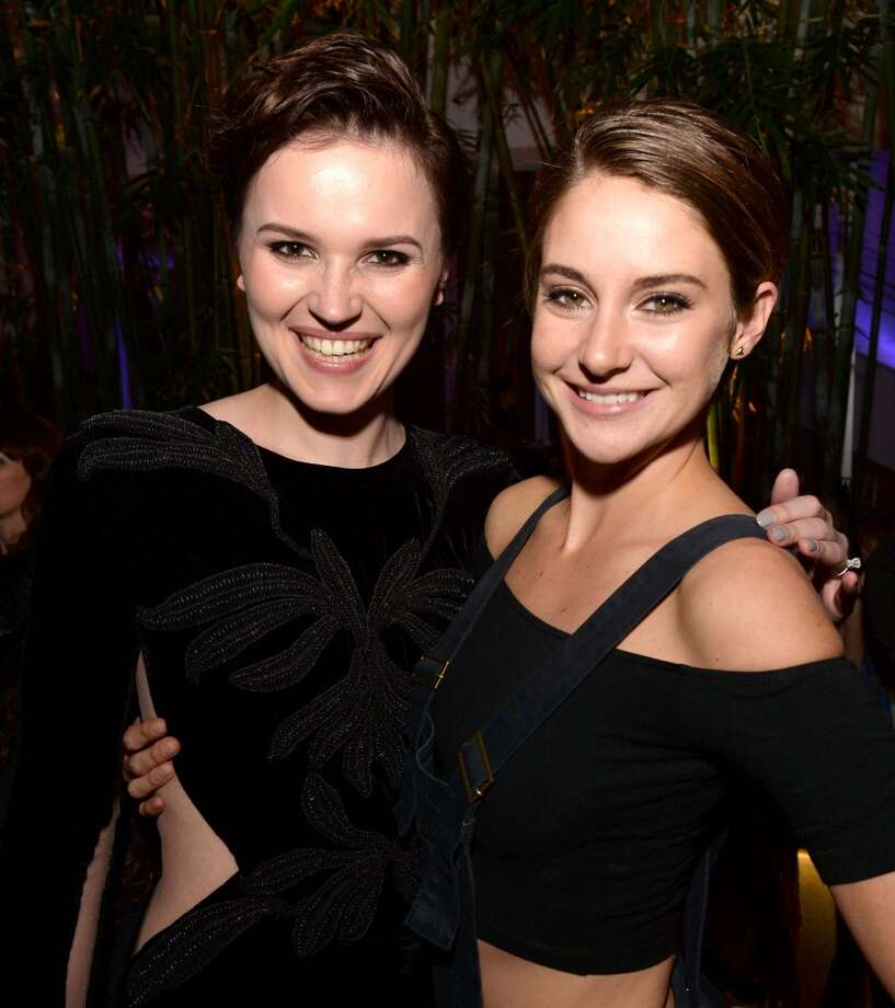 "Writer Veronica Roth (L) and actress Shailene Woodley pose at the after party for the premiere of Summit Entertainment's ""Divergent"" at The Armand Hammer Museum on March 18, 2014 in Los Angeles, California. Photo: Kevin Winter, Getty Images"