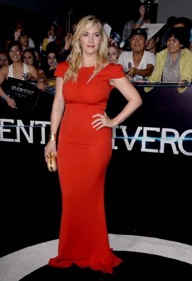 "Actress Kate Winslet arrives at the premiere of Summit Entertainment's ""Divergent"" at the Regency Bruin Theatre on March 18, 2014 in Los Angeles, California. Photo: Frazer Harrison, Getty Images"