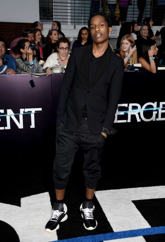 "Singer ASAP Rocky arrives at the premiere of Summit Entertainment's ""Divergent"" at the Regency Bruin Theatre on March 18, 2014 in Los Angeles, California. Photo: Frazer Harrison, Getty Images"