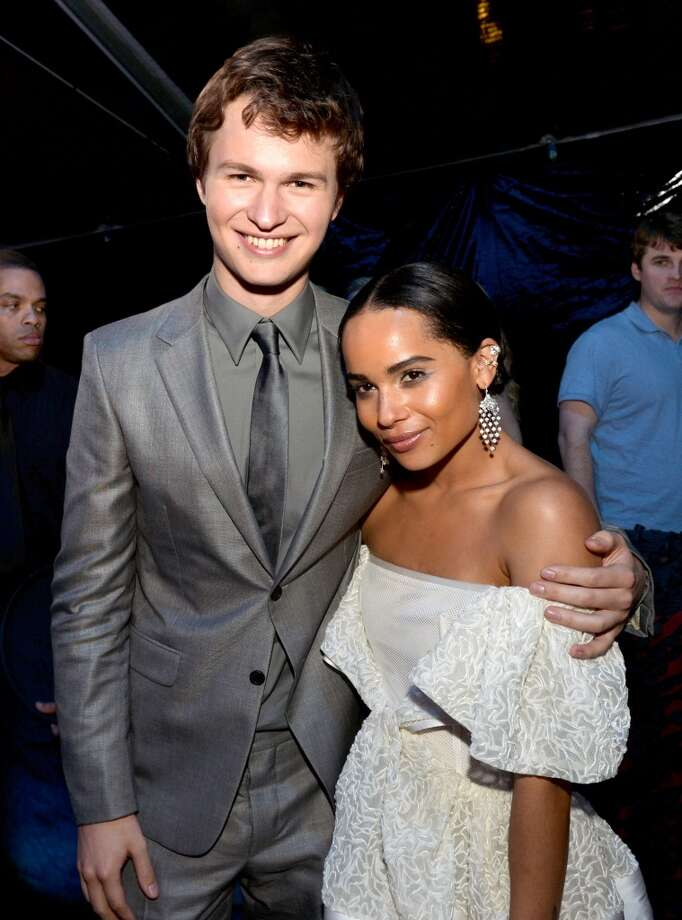 "Actor Ansel Elgort (L) and actress Zoe Kravitz pose at the after party for the premiere of Summit Entertainment's ""Divergent"" at The Armand Hammer Museum on March 18, 2014 in Los Angeles, California. Photo: Kevin Winter, Getty Images"