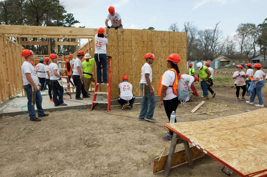 These are the least and most generous states in the country, according to data from FiveThirtyEight. Although there are many ways be generous (like building homes for Habitat for Humanity, pictured above), the following looks at donations per capita and how many people say they donate in each state. Photo: J. Patric Schneider, Freelance / © 2014 Houston Chronicle
