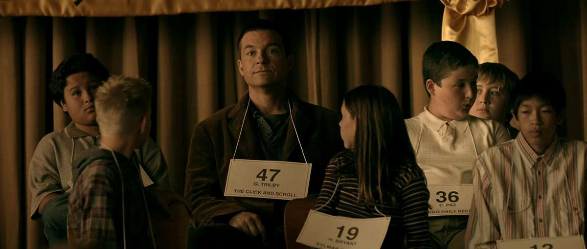 Jason Bateman (center) stars as Guy Trilby in the subversive comedy Bad Words, a Focus Features release.