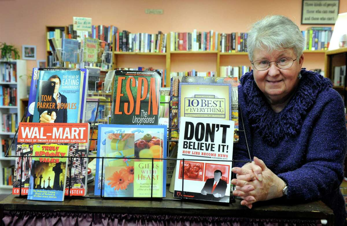 Winnie Mercado, 67, is the owner of The Paperback Exchange in Brookfield, Conn. Wednesday, March 19, 2014.