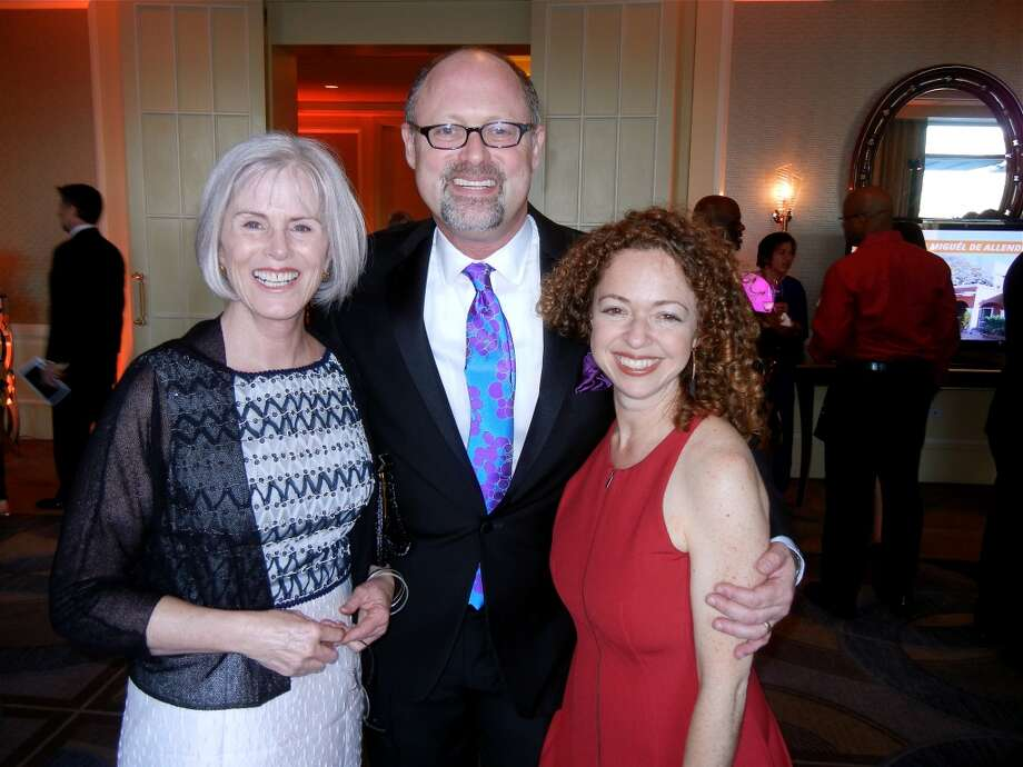 Gala co-chairwoman Jean Simpson (at left) with California Shakespeare Theater Artistic Director Jonathan Moscone and Managing Director Susie Falk at the Four Seasons Hotel during the Raise the Roof Gala. Photo: Catherine Bigelow