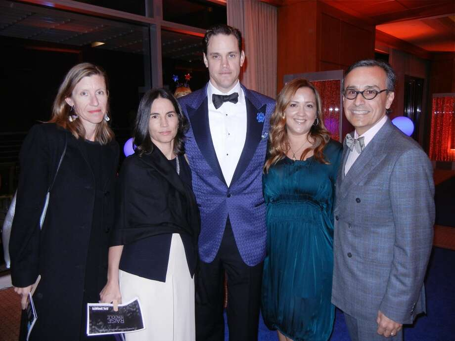 Svea Horton (at left) with Nicola Miner and Robert Mailer Anderson, Ashley and Antonio Lucio at the Cal Shakes Gala. Photo: Catherine Bigelow