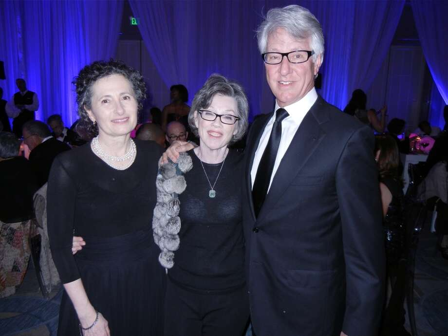 Vivienne Flesher (at left) with producer Carole Shorenstein Hays and her husband, Dr. Jeff Hays at the Cal Shakes Gala. Photo: Catherine Bigelow