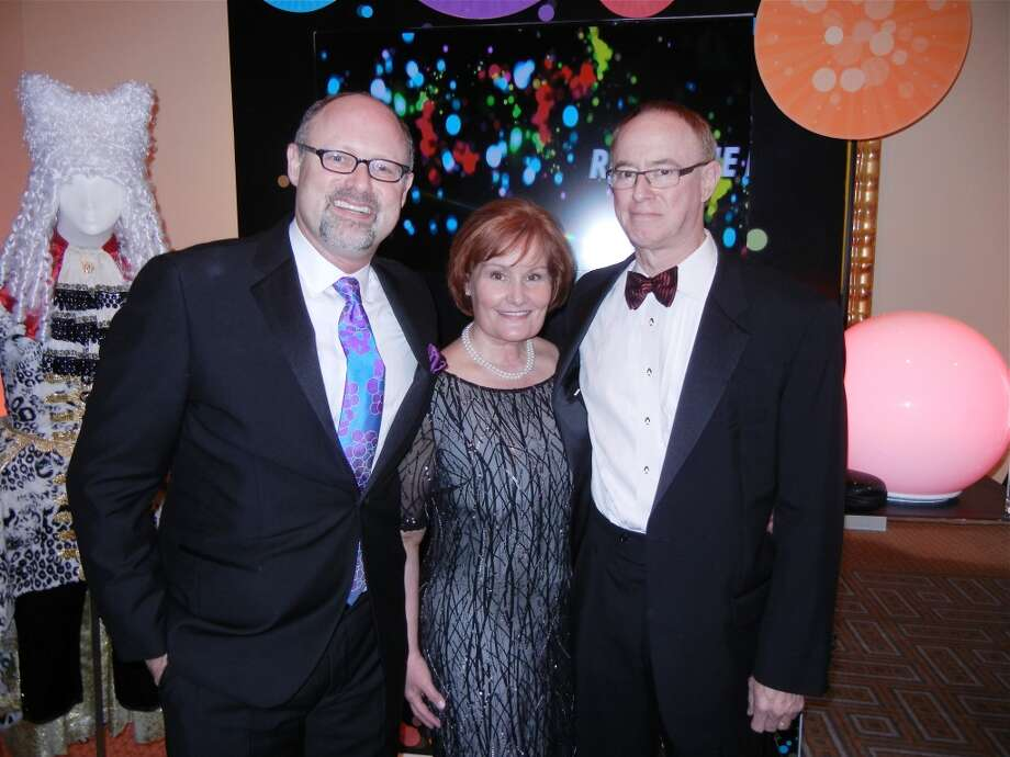 Jonathan Moscone (at left) with Gala co-chair Maureen Knight and her husband, John Muir Hospital CEO Cal Knight at the Cal Shakes Gala. Photo: Catherine Bigelow