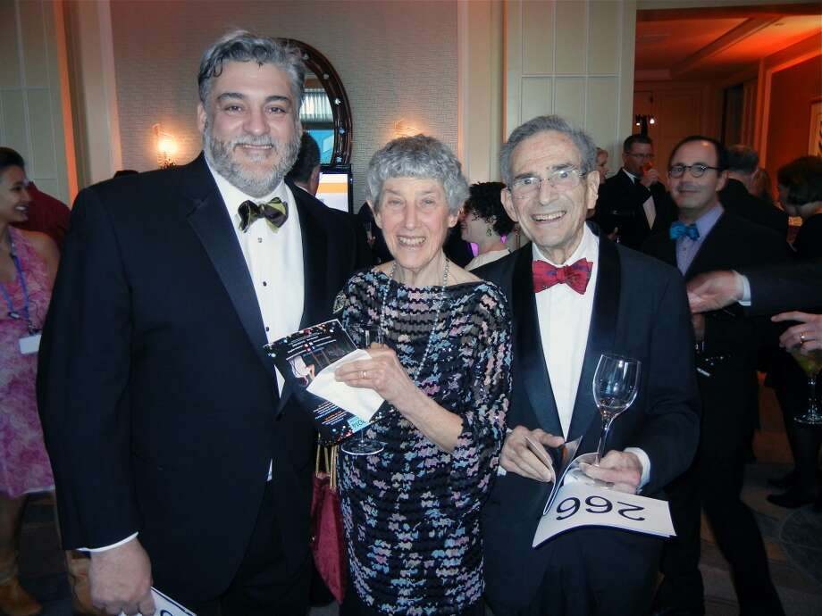 Darryl Carbonaro (at left) with Sondra and Milt Schlesinger at the Cal Shakes Gala. Photo: Catherine Bigelow