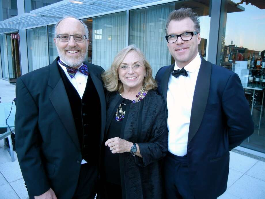 Cal Shakes Trustee Phil Chernin (at left) with Chris Voll and Simon Baker at the Cal Shakes Gala. Photo: Catherine Bigelow