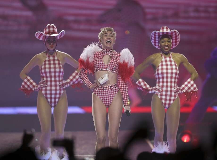 Miley Cyrus performs during her Bangerz tour on Monday, March 10, 2014. Photo: Jeff Wheeler, McClatchy-Tribune News Service
