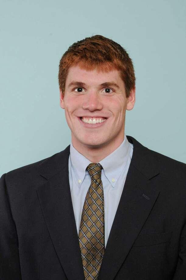 Former Shaker standout Frank Dyer of Notre Dame's swim team. (Notre Dame sports information)