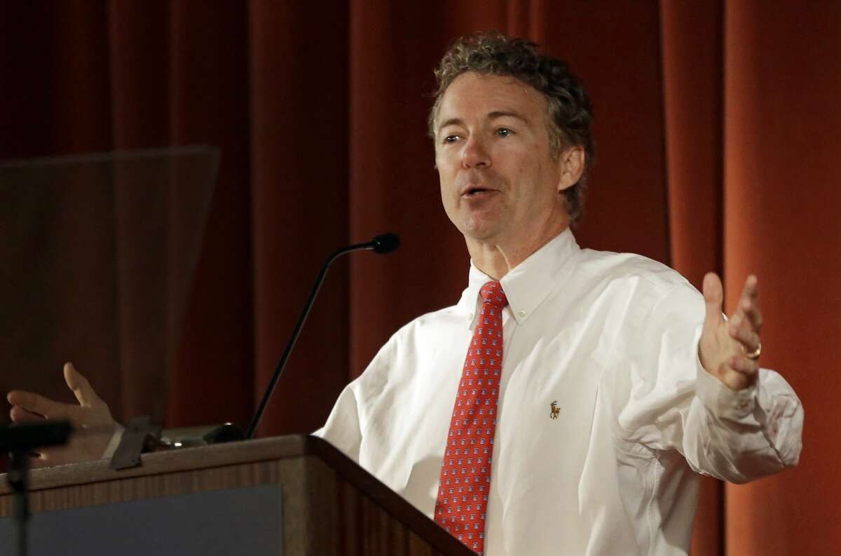 U.S. Sen. Rand Paul, R-Ky., speaks at the Berkeley Forum, Wednesday, March 19, 2014, in Berkeley, Calif. (AP Photo/Ben Margot)