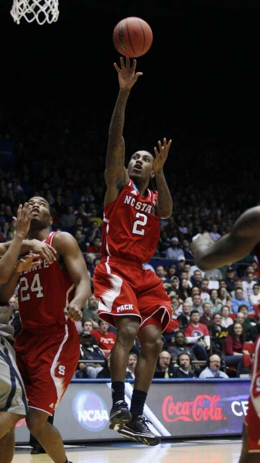 North Carolina State guard Anthony Barber (2) shoots against Xavier. Photo: Skip Peterson, Associated Press