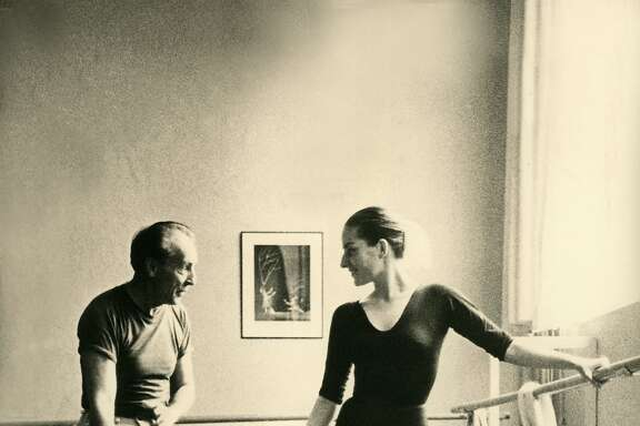 "George Balanchine and Tanaquil Le Clercq in, ""Afternoon of the Faun: Tanaquil Le Clercq."""