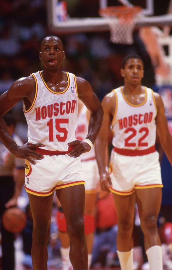 Houston Rockets Mitchell Wiggins (15) and Rodney McCray (22) Photo: HP Staff / Houston Post files