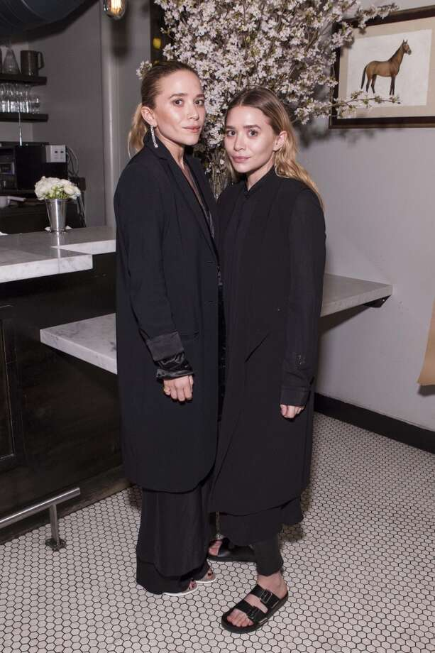Mary Kate and Ashley Olsen at a dinner hosted by The Row and Barneys New York at Marlowe, March 18. Photo: Claudine Gossett, Drew Altizer Photography