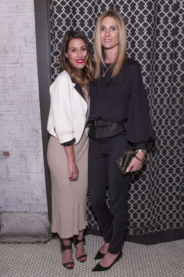 Alison Sonsini and Alice Cahan at a dinner hosted by The Row and Barneys New York at Marlowe, March 18. Photo: Claudine Gossett, Drew Altizer Photography