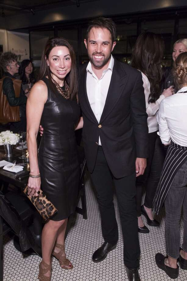 Gina Peterson and Anthony Schiller at a dinner hosted by The Row and Barneys New York at Marlowe, March 18. Photo: Claudine Gossett, Drew Altizer Photography