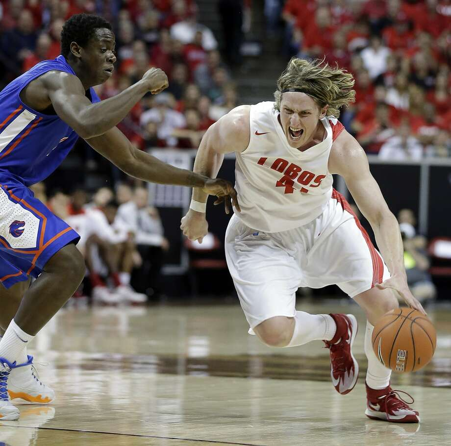 Cameron Bairstow was slow to develop at New Mexico after having a major growth spurt at 17. Photo: Isaac Brekken, Associated Press