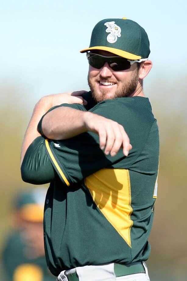 Ryan Cook threw to hitters without pain in his shoulder. He'll throw again Saturday. Photo: Joe Camporeale, Reuters