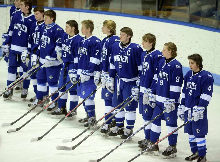 Highlights from the boys ice hockey Division I semifinals between Darien and Notre Dame-Fairfield Wednesday, Mar. 19, 2014, at Ingalls Rink in New Haven, Conn. Photo: Autumn Driscoll / Connecticut Post