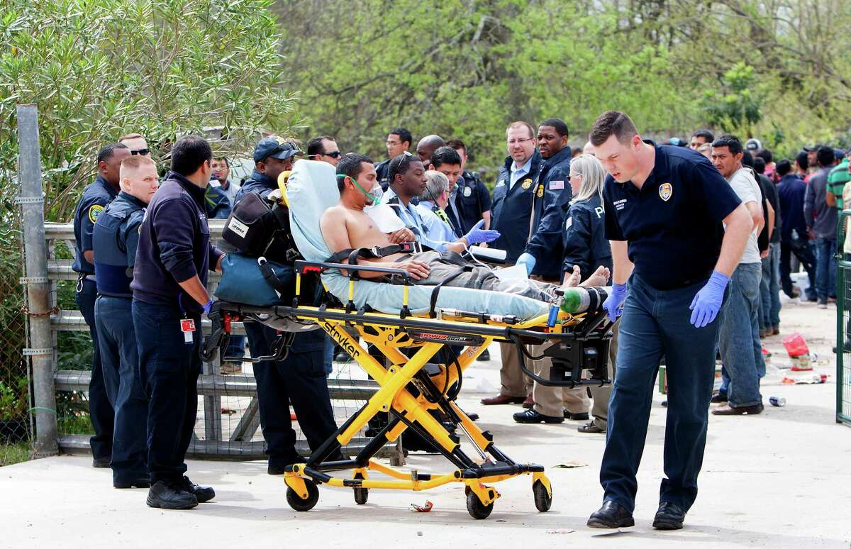 More than 100 people were found inside a house on Almeda School Road in southeast Houston.