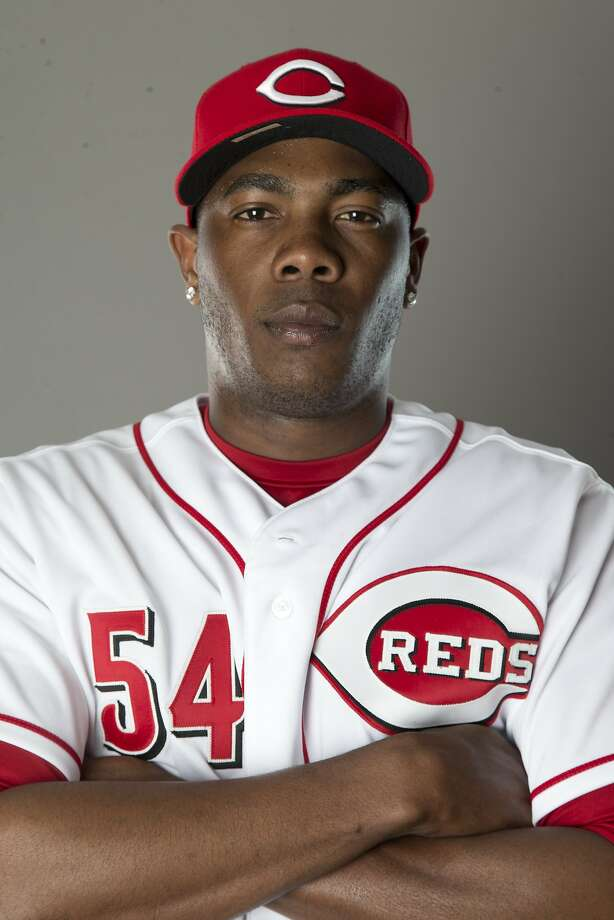 GOODYEAR, AZ - FEBRUARY 20: Aroldis Chapman #54 of the Cincinnati Reds poses for a picture during picture day on February 20, 2014 in Goodyear Park, Arizona. (Photo by Mike McGinnis/Getty Images) Photo: Mike McGinnis, Getty Images