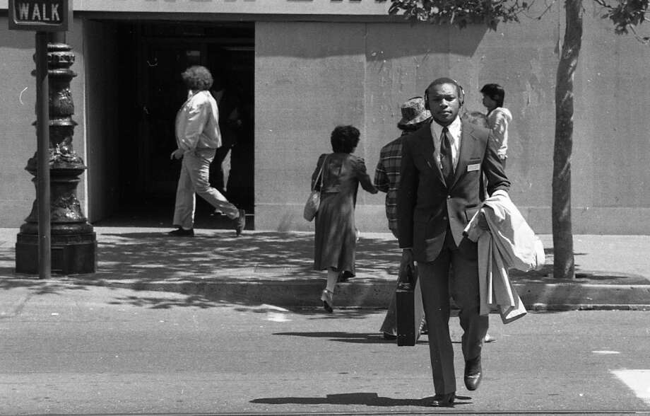 Pedestrian safety was a huge debate with the Sony Walkman. Articles in the early 1980s brought up similar concerns that people have with smart phones in 2014. Photo: Gary Fong, The Chronicle
