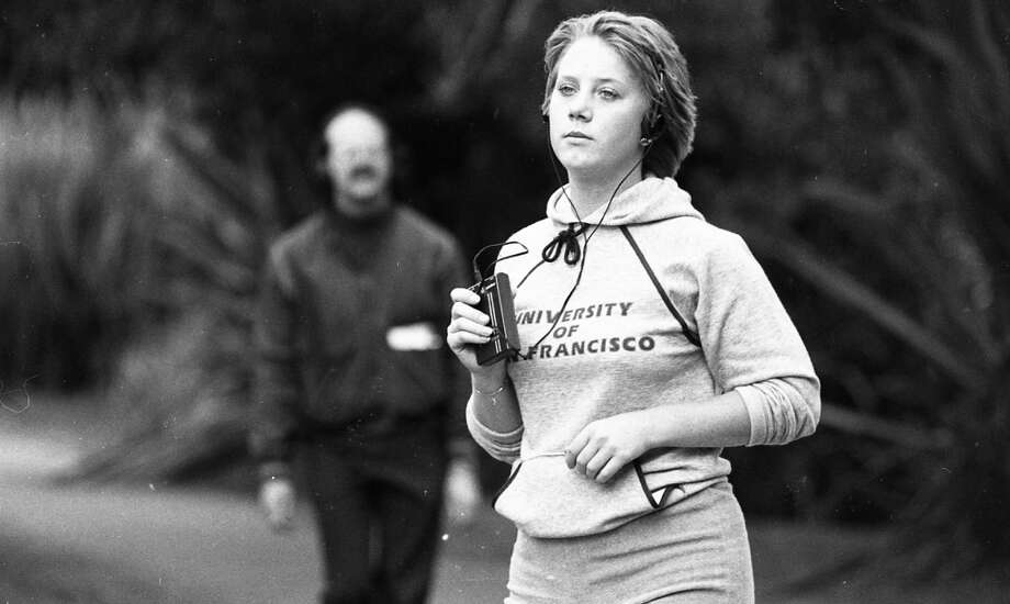 Jogging in Golden Gate Park. Olivia Newton John is too easy. I'm guessing she's listening to The Human League. Photo: Gary Fong, The Chronicle