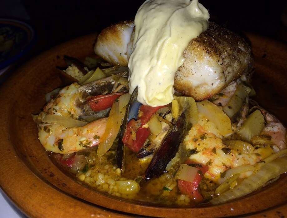Seafood tagine with couscous and aioli ($29)