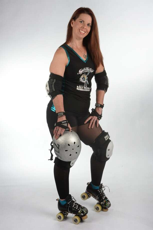 The Spindletop Roller girl's Sheri Ford. (Ruby Ridikule) Photo taken Wednesday, March 12, 2014 Guiseppe Barranco/@spotnewsshooter
