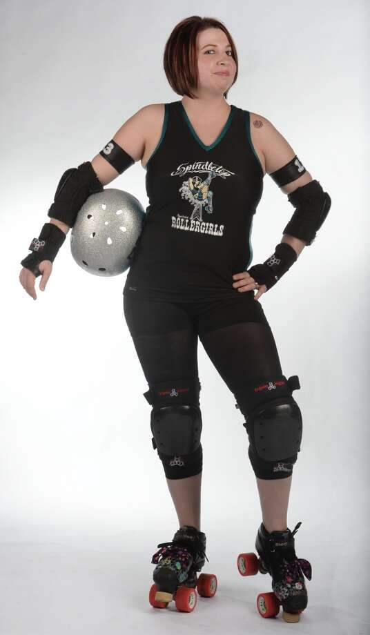 The Spindletop Roller girl's Stephanie Colwell. (Raevyn Ram-Paige) Photo taken Wednesday, March 12, 2014 Guiseppe Barranco/@spotnewsshooter