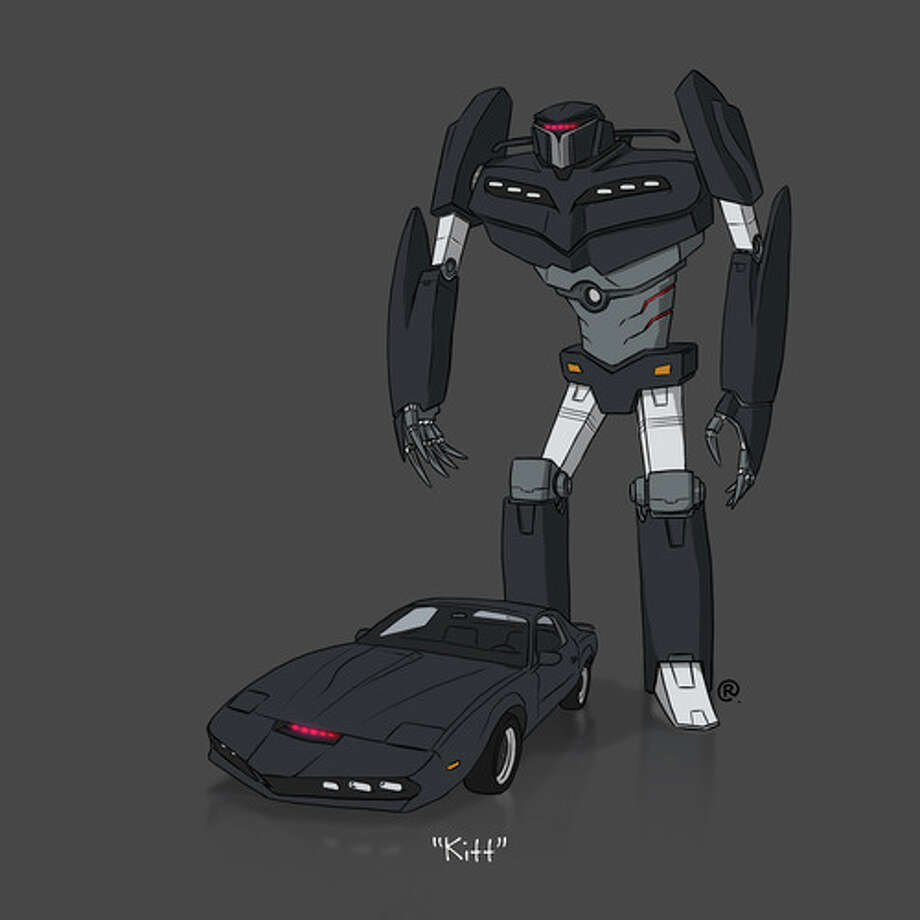 """""""Knight Rider's"""" KITT: Canadian graphic designer Darren """"Rawlsy"""" Rawlings of Thinkmore Studios has given the Transformers treatment to pop culture's most beloved cars. Check out more of his work, including additional pop culture mash-ups, on his Rawls blog. Photo: Darren Rawlings, Thinkmore Studios"""