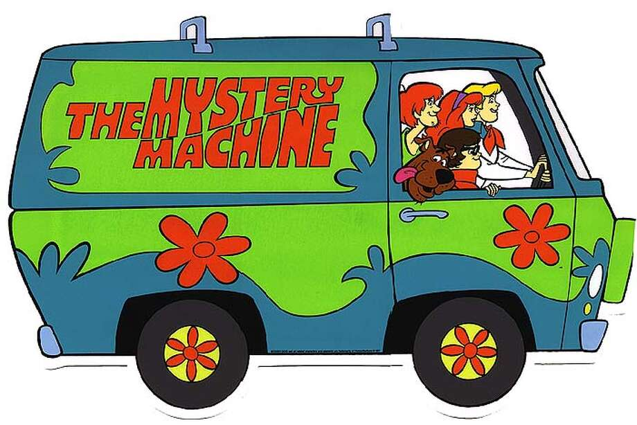 "Here's the original ""Scooby Doo"" Mystery Machine. Now check it out as a Transformer."