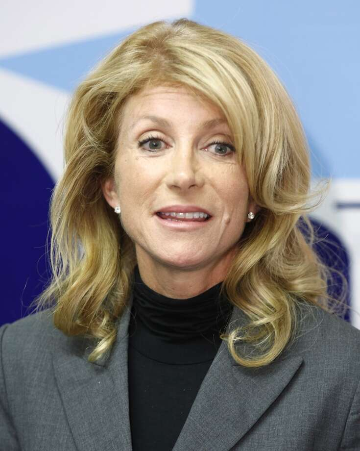 Wendy Davis, elected Tuesday to a second term as senator of Texas district 10, speaks to the media at her campaign headquarters in Fort Worth, Texas, November 7, 2012. (David Kent/Fort Worth Star-Telegram/MCT) Photo: McClatchy-Tribune News Service