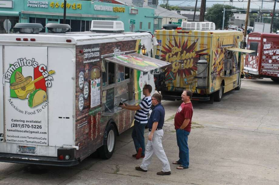 Food trucks. Happiness on wheels. Photo: Gary Fountain, For The Chronicle