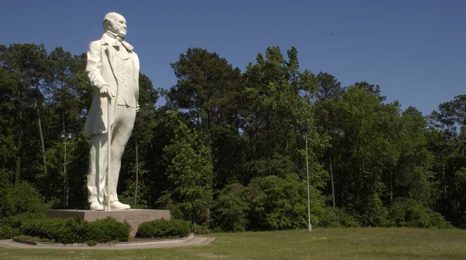 The Sam Houston statue south of Huntsville in your rearview mirror as you drive back into Houston means that you are just all that closer to home. So, be happy. Photo: Steve Ueckert, Houston Chronicle
