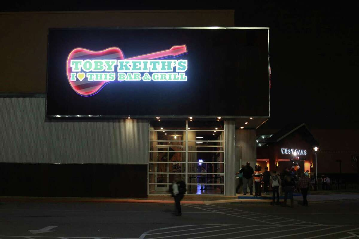 (For the Chronicle/Gary Fountain, March 14, 2014) Entrance to Toby Keith's I Love This Bar & Grill at West Oaks Mall.