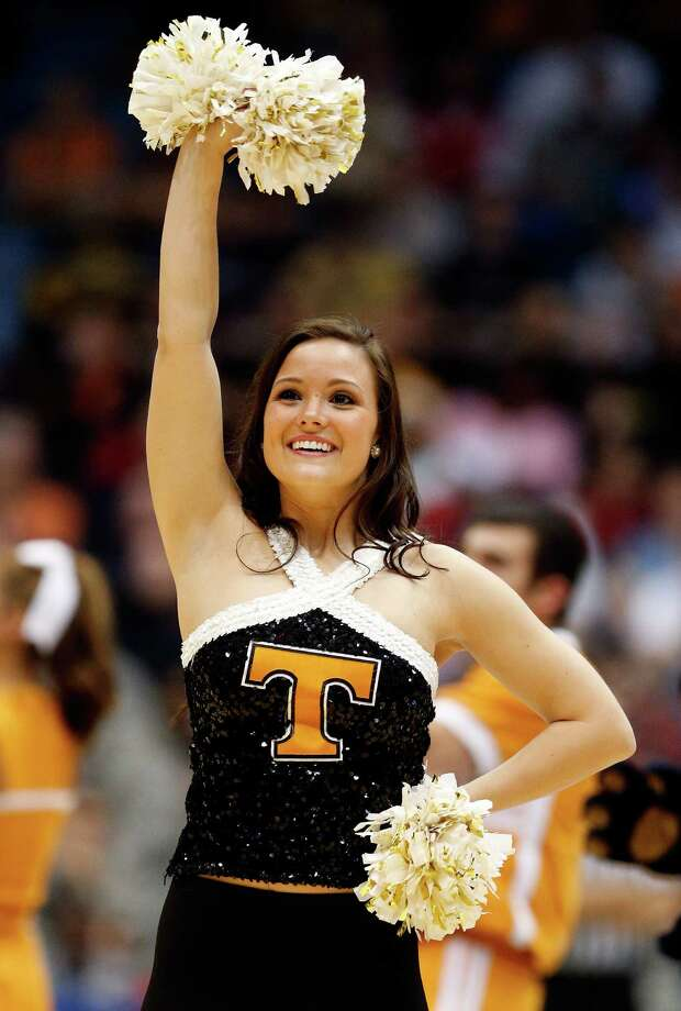DAYTON, OH - MARCH 19:  A Tennessee Volunteers cheerleader performs during the first round of the 2014 NCAA Men's Basketball Tournament against the Iowa Hawkeyes at UD Arena on March 19, 2014 in Dayton, Ohio. Photo: Gregory Shamus, Getty Images / 2014 Getty Images